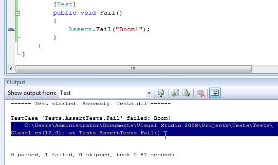 TestDriven Net > Quickstart